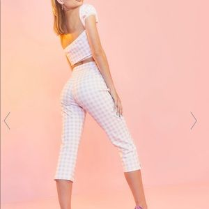 Suagr thrillz cropped pink pants from Dollskill